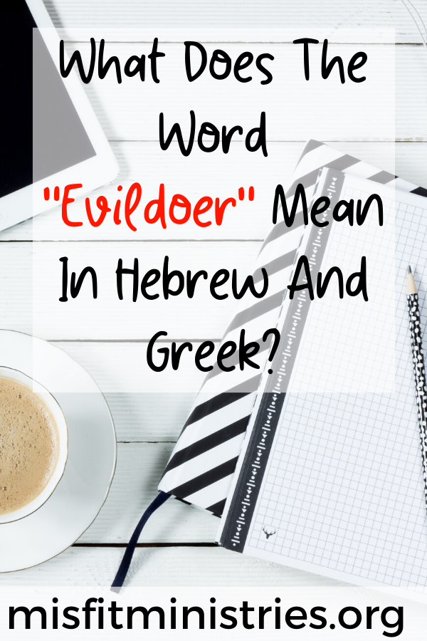 What does the word evildoer mean in Hebrew and Greek?