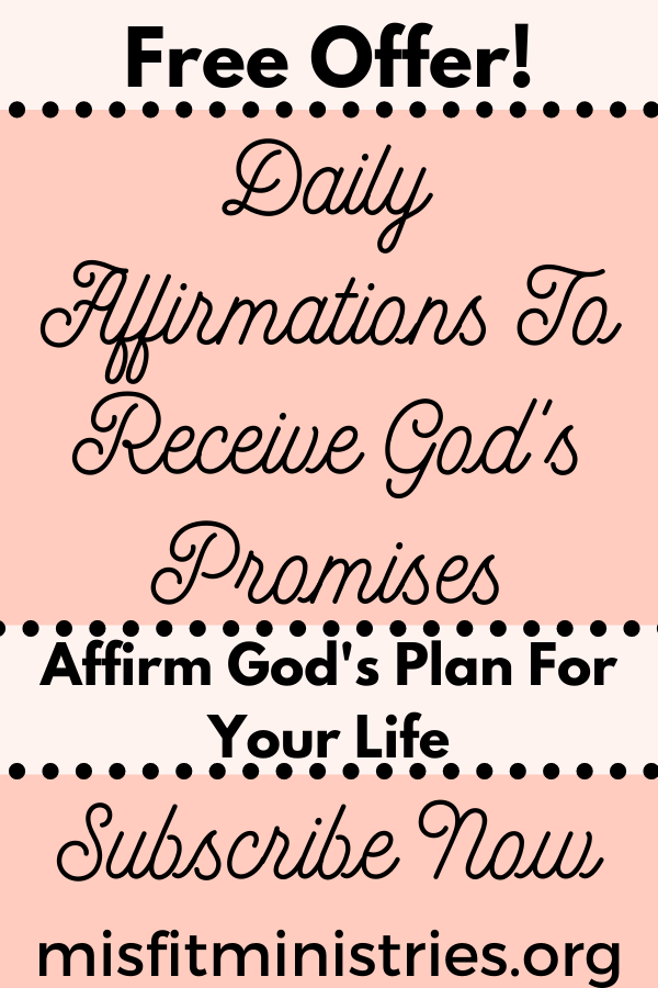 Affirmations to receive God's promises