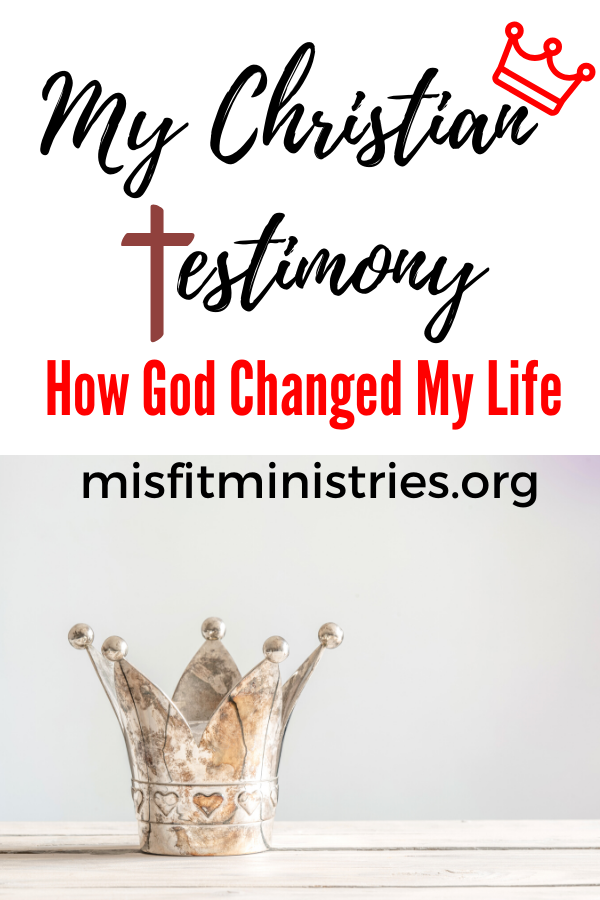 My Christian testimony and how God changed my life.