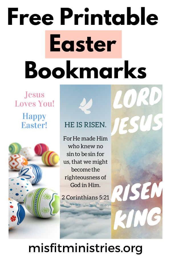 Free Printable Easter Bookmarks