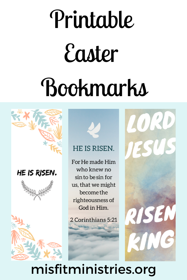 Printable Easter Bookmarks