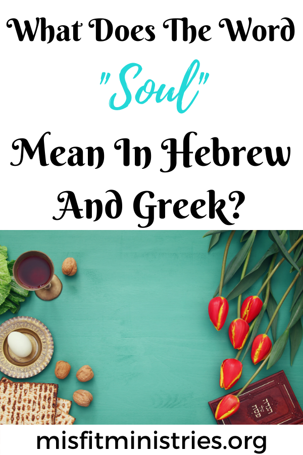 What does the word soul mean in Hebrew and Greek?