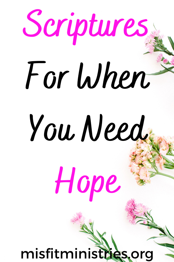 Scriptures on hope for when you need hope | Bible verses on hope