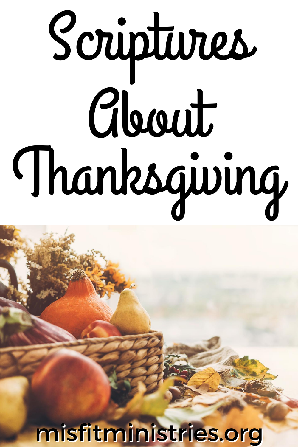 scriptures on thanksgiving