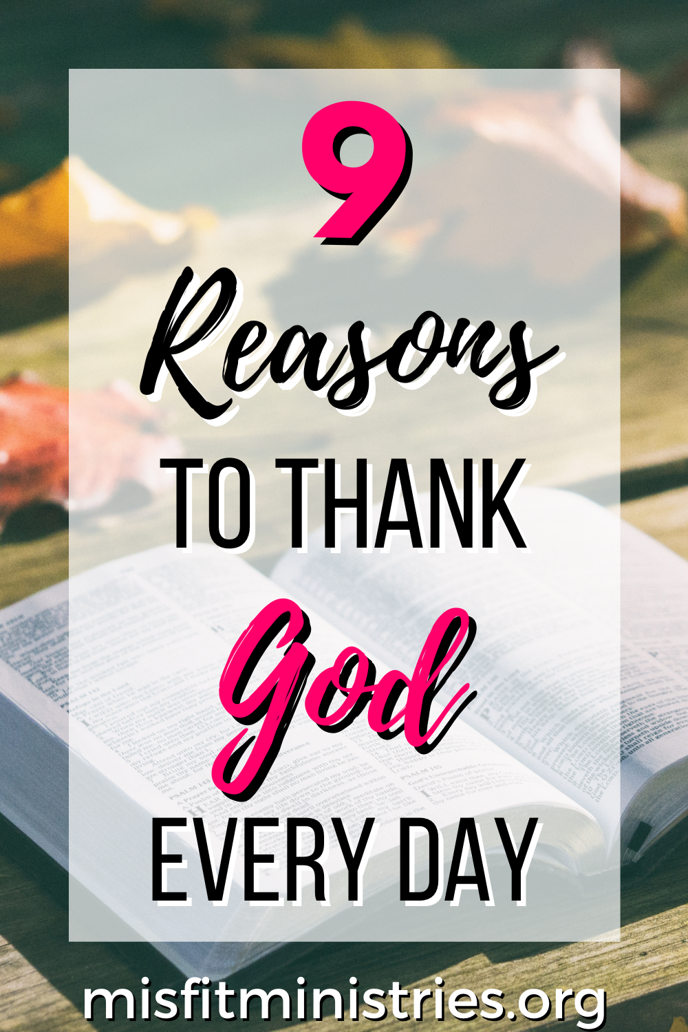 things to express praise and thanks to God for