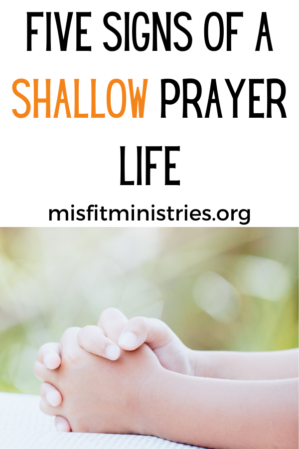 do you have a shallow walk with God