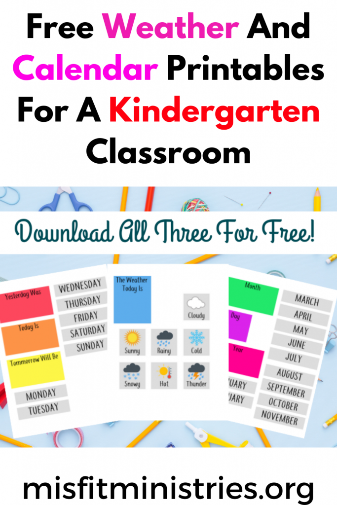 Free Weather And Calendar Printables For A Kindergarten Classroom